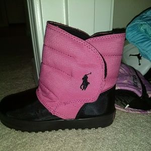 Pink Ralph Lauren snow boots